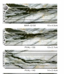 Wall Decorative Mouldings Made in PVC Sold Marble at UV Finish pictures & photos