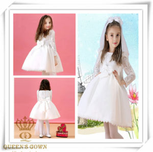Long-Sleeved Bridal Flower Girl Dress, Factory Direct pictures & photos