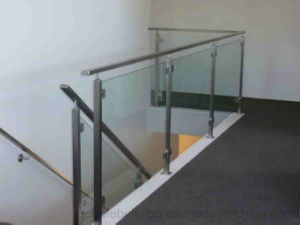 Stainless Steel Balcony Glass Balustrade, Glass Fence, Semi Post Stair Glass Railing pictures & photos