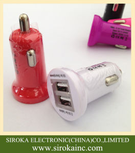 Dual 2 USB 5V 2.1A Mobile Phone Battery Car Charger Wholesale Universal pictures & photos