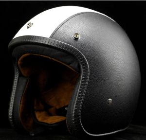Vintage Helmet for Open Face in Leather Material pictures & photos