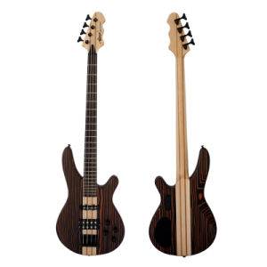 Wholesale Solid Zebrawood 4 String Electric Guitar Bass pictures & photos