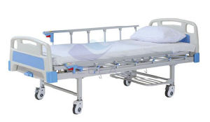 AG-Bys204 with Metal Frame Adjustable Simple 1 Cranks Manual Hospital Bed pictures & photos