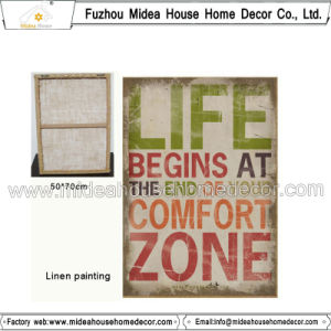 High Quality Handmade Linen Painting pictures & photos
