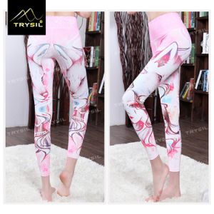 Pink Girl Printing Ankle Length Yoga Pants Tight Legging pictures & photos