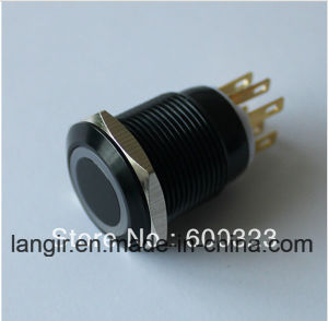 New Style 19mm Anti Vandal Pushbutton Made of Black Aluminum Ring LED pictures & photos