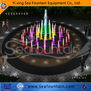 LED Light Decorative Stainless Net Dry Floor Fountain pictures & photos
