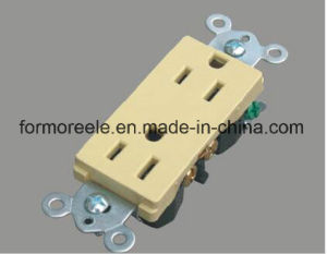 American Standard ABS Ivory 250V/20A Standard Grounding Electric Socket/Receptacle pictures & photos