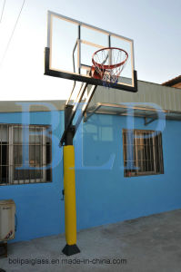 "72""*42"" 10mm Glass Backboard Height Adjustable Basketball System pictures & photos"
