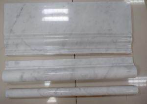 Carrara White Skirting Pencil Molding and Chari Rail pictures & photos