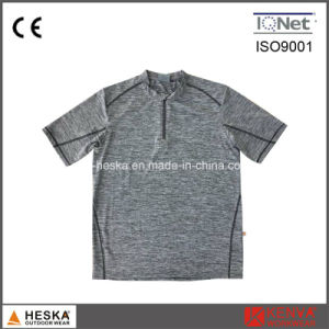 Pullover Round Melange Color Mens T Shirt pictures & photos