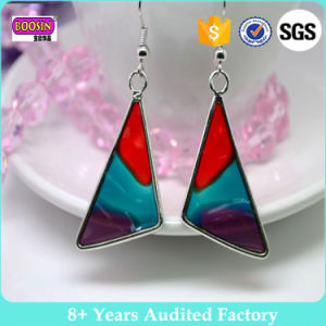 Custom Factory Cheap Shaped Enamel Jewellery Painted Earrings for Girls pictures & photos