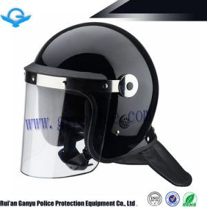 Professional Violence Proof Helmet with PC Flat Visor pictures & photos