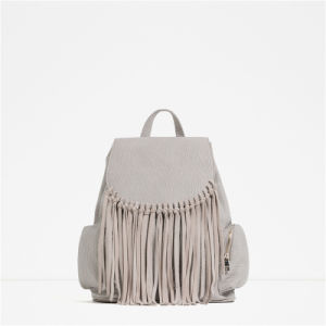 Women Tassel Fashion Backpack Ladies Backpack pictures & photos