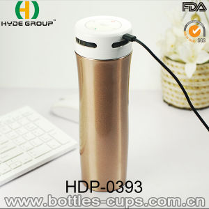 New Arrival BPA Free Bluetooth Music Stainless Steel Speaker Water Bottle (HDP-0393) pictures & photos