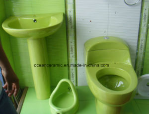 328c Colors Sanitary Ware, Classical Siphonic One Piece Toilet pictures & photos