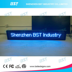 Programmable Semi-Outdoor Blue Color LED Moving Sign (P10mm) pictures & photos