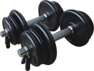 2017 New Adjustable Rubber Dumbbells Plate with Chrome Handle pictures & photos