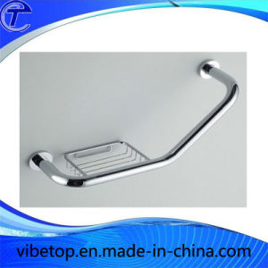 Stainless Steel Bathroom Safety Grab Bar with Soap Holder pictures & photos