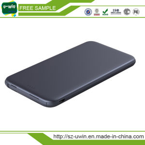 Ultra-Thin Mobile Power Bank 6000mAh Built-in Line Cable pictures & photos