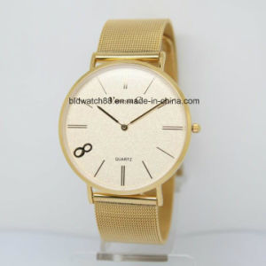 2017 Hot Sale Top Brand Ladies Gold Watch Stainless Steel Back Custom Watches pictures & photos