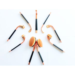 10PCS Professional Rose Gold Cosmetic Makeup Brush Set for Face pictures & photos