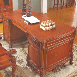 Executive Table and Bookcase for Home Office Furniture pictures & photos