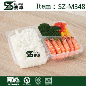 1000ml 3 Comparment Deli Food Container with Airtight Lid pictures & photos