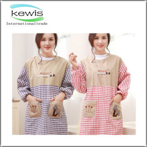 Gift Stripe Plaid Women Floral Printed Lace Blank Apron pictures & photos