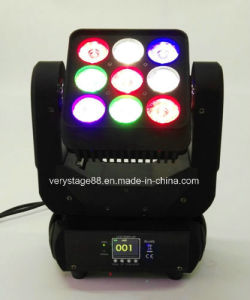 9PCS 10W LED Beam Wash Moving Head Matrix Lighting pictures & photos