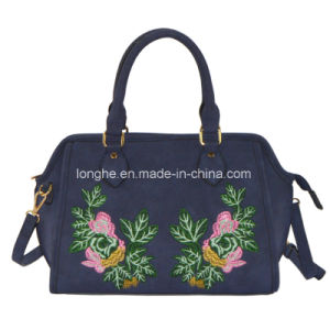 Popular Tote Women Handbag with Embroidery Artwork pictures & photos