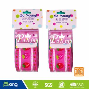 Student Use Plastic Core Colorful OPP Stationery Tape pictures & photos