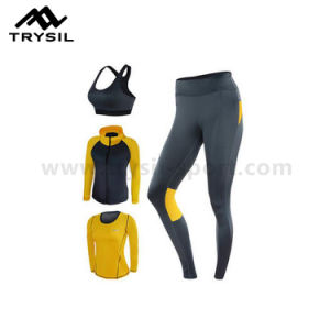 Tight Gym Wear Set Bright Color Sport fitness Clothes Sets Wearing for Women pictures & photos