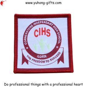 Serging Edge Embroidered Patch for College (YH-EB040) pictures & photos