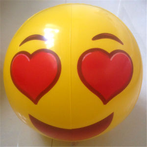 12 Inches PVC or TPU Inflatable Face Felling Beach Ball pictures & photos