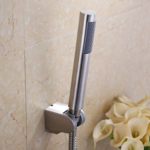 Bathroom Handheld Shower Head with Extra Long Hose and Bracket Holder, Brushed Stainless Steel