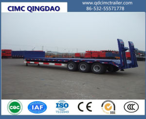 Cimc 3 Axles 50t Low Bed Container Semi Truck Trailer Chassis pictures & photos