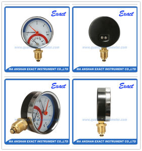 Black Steel Thermometer-Thermo Manometer - Pressure Temperature Gauge pictures & photos