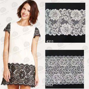White Cotton Crochet Elastic Lace