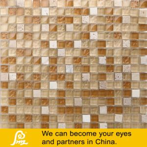 Travertino Stone Glass Mosaic Tile 02 pictures & photos
