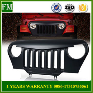 4X4 Car Front ABS Grille Overlay for Jeep Wrangler Tj pictures & photos