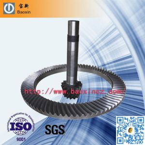 Mould Spiral Bevel Gear with Shaft pictures & photos