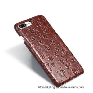 Skull Pirate Genuine Cow Leather Case for iPhone pictures & photos