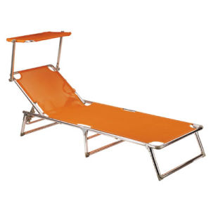 Aluminum Alloy Folding Beach Bed with Sunshade Canopy pictures & photos