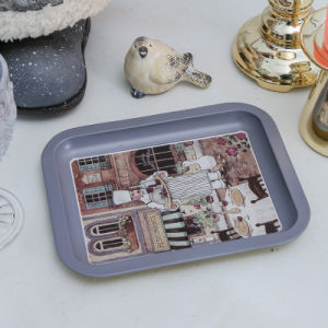 Rectangular Tin Serving Trays Size Is 20.5*16.5*2hcm pictures & photos