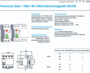 Tml1-63 High Quality Electronic RCCB with IEC61008-1 Standard pictures & photos
