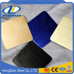 JIS 201 202 304 430 Cr Decorative Stainless Steel Sheet pictures & photos