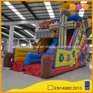 Cheap Kids Inflatable Construction Site Slide with High Quality (AQ01677) pictures & photos