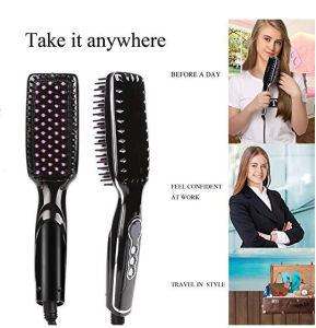 Hair Care Product Ceramic Hair Straightening Brush LED Display pictures & photos
