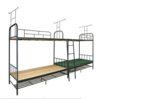 Modern Shool Furniture Steel Metal Bunk Dormitory Bed (HX-JY013) pictures & photos